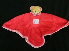Kathe Kruse Terry Cloth Bear Dou Dou Blanket Red Gingham Lovey Baby Doll NuNu