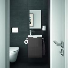 ALLIBERT Badmöbel Gäste-WC Set vormontiert anthrazit Waschtisch 40 cm Spiegel