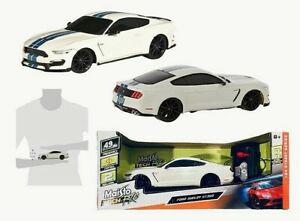Maisto Tech R/C White w Navy Strips Ford Shelby GT350 1.24 Street Series