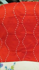 """""""""""European Pillow Sham"""""""" - Bright Red With White Woven Ribbon - Tommy Hilfiger"""