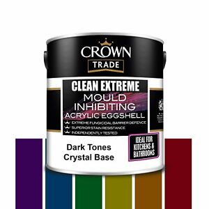Crown Trade Clean Extreme Mould Inhibiting Acrylic Eggshell Paint 2.5 L / DARKS