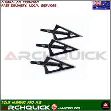 6 x Archery Hunting Broadhead - 3 Fixed Blade 100grain Archery bow hunting