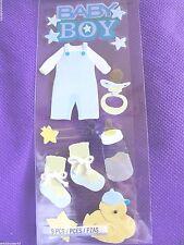 JOLEE'S   Baby BOY Blue  3D Scrapbook Stickers  9 pc  BABY