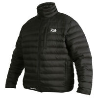 Daiwa Black Quilted Jacket High Quality Thermal Fishing Zip Up Bomber Jacket