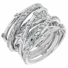 CRISLU CZ Entwined Ring Sterling Silver Platinum.925 2.25 cttw NWT - 6 SAVE$SALE
