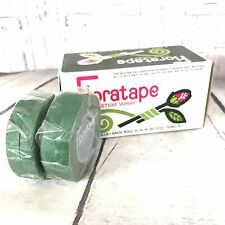 "Floraltape Florist Stem Wrap 4 Rolls Green 30 Yds x 1/2"" Tape Wedding Prom New"