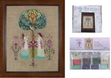 Mirabilia Cross Stitch Pattern & Embellishment Pack Tree of Hope Md109