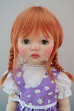 Monique TESSIE Wig Dark Carrot Red Size 12-13 SD BJD shown on My Meadow SAFFI