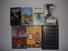7 Lot Old & NewClassic Literature,Leo Tolstoy,Jack London,Steinbeck,Margaret Mit