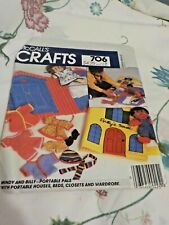 McCall's Pattern -#706 Mindy and Billy, Portable Pals,w Houses,Beds,ClosetsEtc