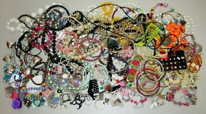Young Girls Jewelry Lot 130 pcs Fashion Play Dress up Necklaces Rings Earrings +