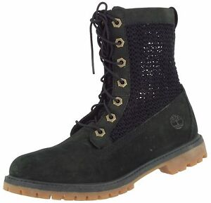 TIMBERLAND SAMPLE A13R1 WOMEN'S OPEN WEAVE ANKLE LEATHER TEXTILE BOOT US 7 EU 38