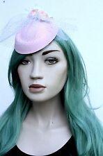 VELO Rosa Mini Cappello con rose 1950's Stile Rockabilly BRIDAL onorevoli giorno