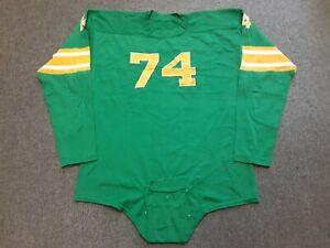 VTG 50s Dennery's Philadelphia #74 Durene Football Jersey Crotch Flap Strap L ?