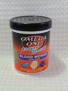 Omega One - Blood Worms - Freeze Dried Nutri Treats - .46oz ***FREE SHIPPING***