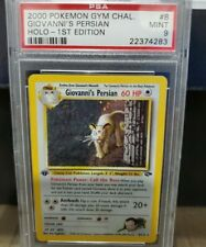 POKEMON GIOVANNI'S PERSIAN VERY STRONG PSA 8 GYM CHALLENGE FIRST EDITION HOLO #8