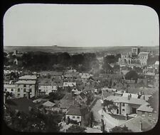 Glass Magic Lantern Slide WINCHESTER FROM ST GILES HILL C1890 PHOTO HAMPSHIRE