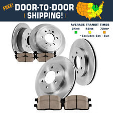 Front And Rear Brake Rotors & Ceramic Pads Fits Nissan Frontier Xterra Equator