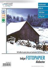 """Photopapier: 100 Bl. Fotopapier """"Alabaster"""" matt 110g/m² A4 (Fotopapier DIN A4)"""