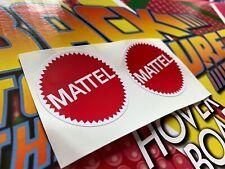 Back to the Future Hoverboard Mattel stickers 1:1 Replica