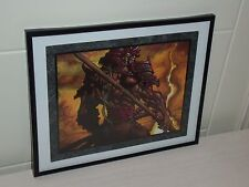 Matthew D Wilson L5R Artist - Bayushi Tomaru - Signed and Numbered Framed Print