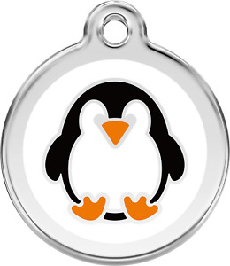 Stainless Steel Red Dingo Penguin ID Collar Charm Dog Tag Small Medium Large