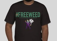 #FREEWEED Graphic Men's T-Shirt, Black/Navy/Gray - Size S-4XL