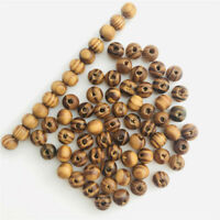 100 pcs Brown Wood beads Necklace Bracelets Charms Jewerlry DIY Findings spacer