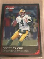 2006 Bowman Chrome Football Card #163 Brett Favre