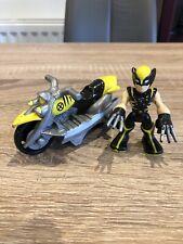 Playskool Marvel Super Hero Adventures Wolverine Figure Racer Motorcycle Rare