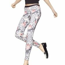 NWT Women's $78 Hue Peony Stripe Scuba Leggings, Size Small