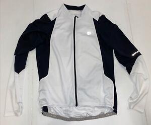 Pearl Izumi Mens Select Long Sleeve Cycling Jersey Sz. XL White Full Zip Top