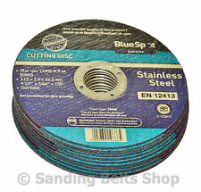 10 Metal Cutting Disc Flat Blade Stainless Steel 115mm Air Cut off Thin 4 1/2""