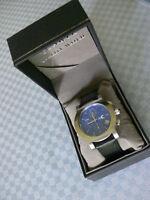 New Men's Chronograph Date Watch Blue Dial Japan Movement Orig. $99