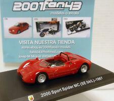 ABARTH FIAT 2000 SPORT SPIDER MC (SE 04/L) 1967 1/43 HACHETTE