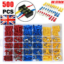 1000x Electrical Wire Terminals Assortment Set Insulated Crimp Connectors Spade