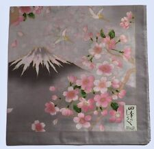 Japanese Landscape Handkerchief,Cherry Blossoms and Mt Fuji, from Japan