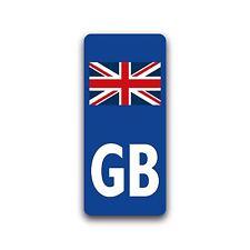 Motorcycle GB UK Union Jack Flag Badge Vinyl Sticker for Moto Number Plate