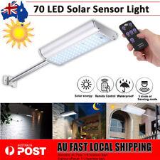 Solar 70 LED Motion Sensor Light Security Outdoor Garden Wall Lamp Waterproof AU