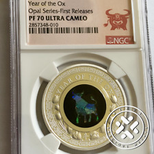 2021 Opal Series Year Of The Ox Ngc Pf70 Ultra Cameo First Releases Silver Coin