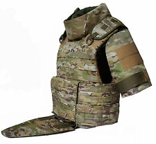 Body armor plate carrier vest MOLLE waterproof Kevlar incl Multicam