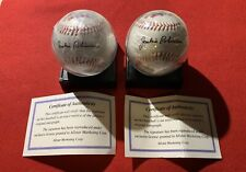Jackie Robinson 50th Anniversary Replica Autograph Baseball With Certs Lot Of 2