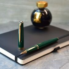 Montblanc Generation Dark Green & Gold Plated Trim Rollerball Pen