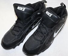 Mens Nike Land Shark MID Size 12.0 Football Cleats - 313398-011