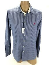 Thomas Pink Men's Blue White Striped Long Sleeve Luxury Casual Dress Shirt L NWT