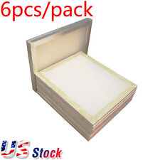 "6pcs - 20"" x 24"" White Aluminum Screen Frame with 110 Mesh US Stock"