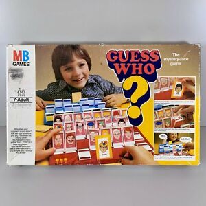 ORIGINAL VINTAGE RETRO 1979 MB Games Guess Who? Board Game COMPLETE
