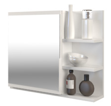 LUMO WHITE MIRROR RIGHT SHELVES CABINET FOR BATHROOM