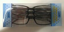 LOT OF 12 FOSTER GRANT HADLEY BLACK READING GLASSES +2.00 NEW