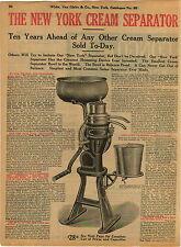 1911 ADVERTISEMENT 2 PG New York Cream Separator Hand Power Crank Floor Model